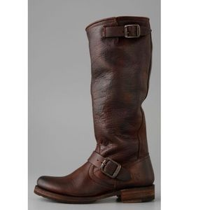 Frye distressed leather slouch boots